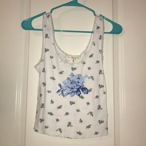 Urban outfitters blue flowers tank top